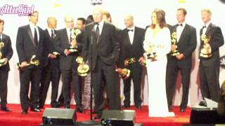 The Amazing Race Cast Backstage Emmy Speech 2012