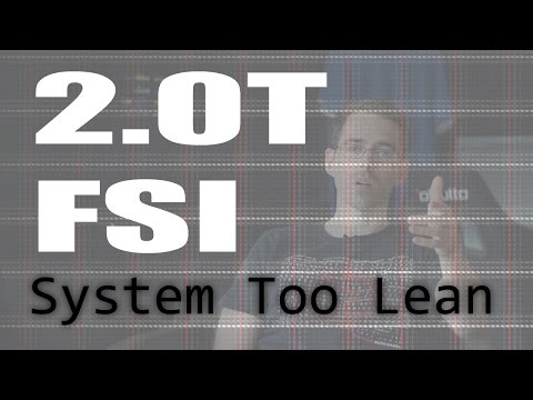 VW 2.0T FSI Engine... System Too Lean Fault Code P0171