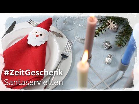 Otto Weihnachtsdeko.Diy Santaservietten Otto Weihnachtskampagne 2016 Zeitgeschenk