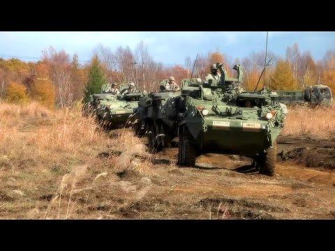 Stryker Bridgade Combat Team At Camp Kita-Chitose, Japan