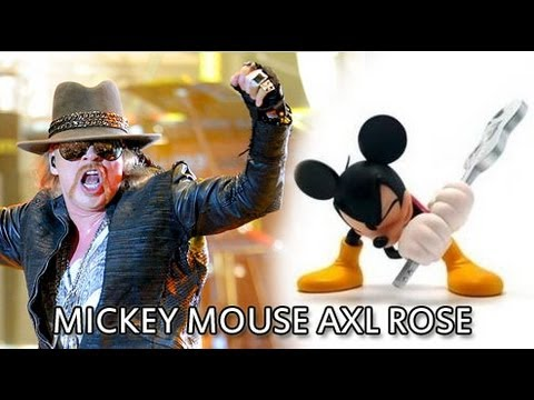 MICKEY MOUSE AXL ROSE VOICE