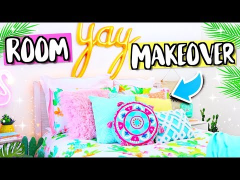 ROOM MAKEOVER 2018! Redecorating My Bedroom Total Room Transformation!
