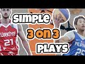 Simple 3v3 Basketball Plays