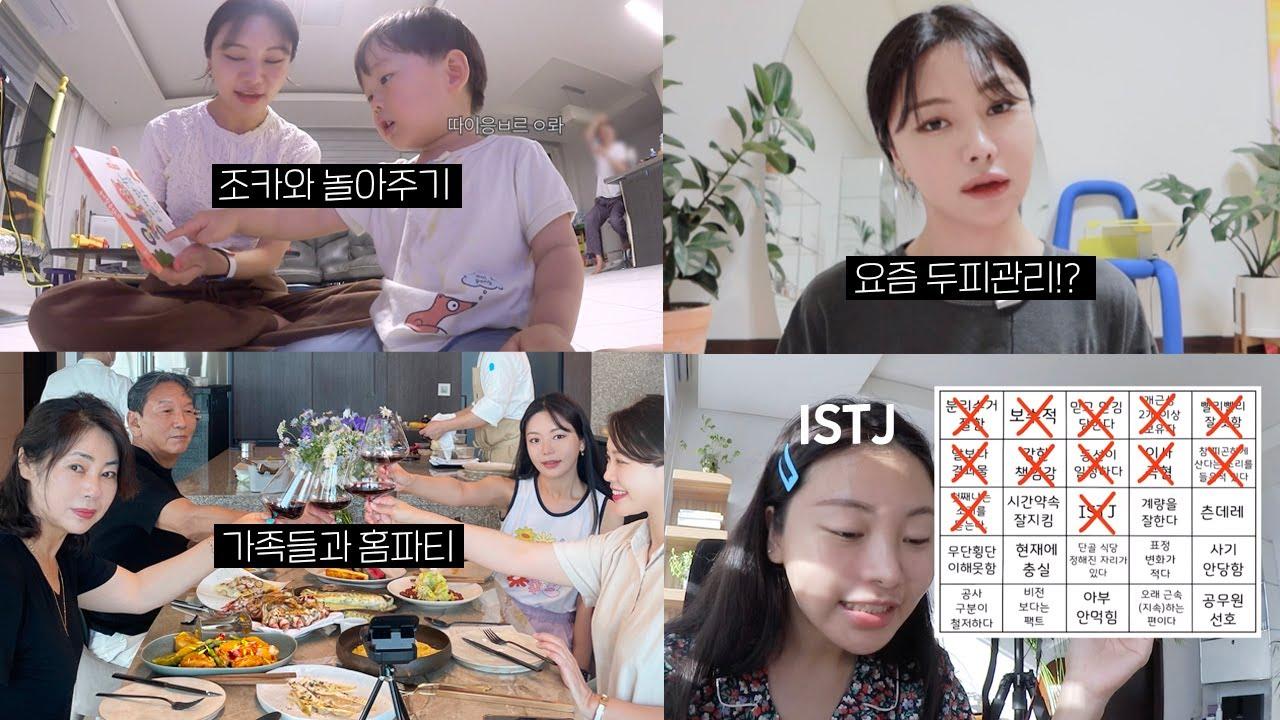VLOG :: 가족들과 집에서 홈파티, 조카와 (잠깐) 놀아주기, 조효진 MBTI 빙고해보기 (feat.ENFP VS ISTJ)
