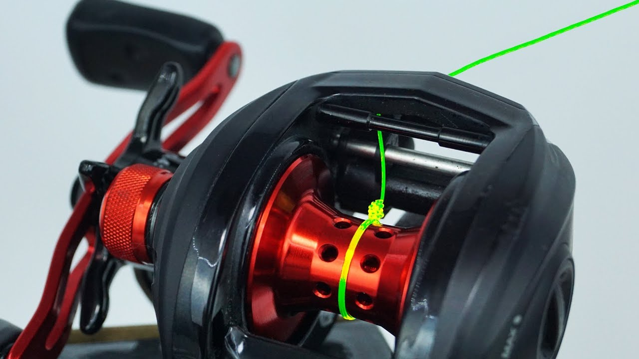 Fishing Knot How To Spool A Baitcaster Reel Youtube