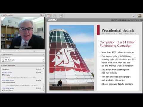 Online Presidential Forum: WSU Global Campus