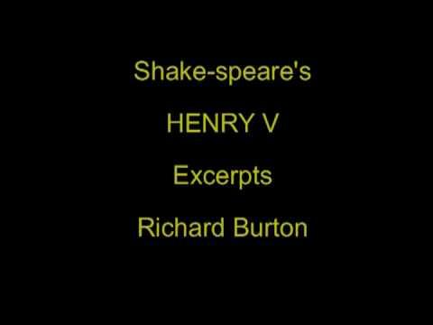 Shake-speare's Henry V - excerpts Richard Burton