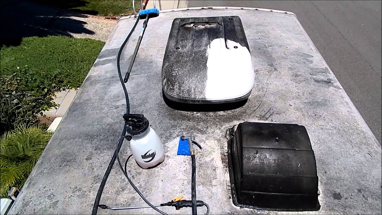 Rv Tips Part 2 Cleaning The Roof On Your Rv Youtube