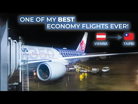 TRIPREPORT   China Airlines (ECONOMY)   Vienna - Taipei Taoyuan   Airbus A350-900