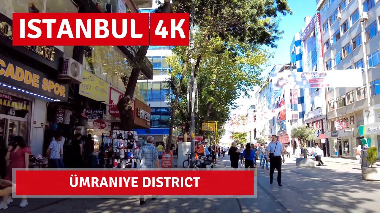 Istanbul Ümraniye  Walking Tour In A Wonderful Bazaar 31July 2021 4k UHD 60fps
