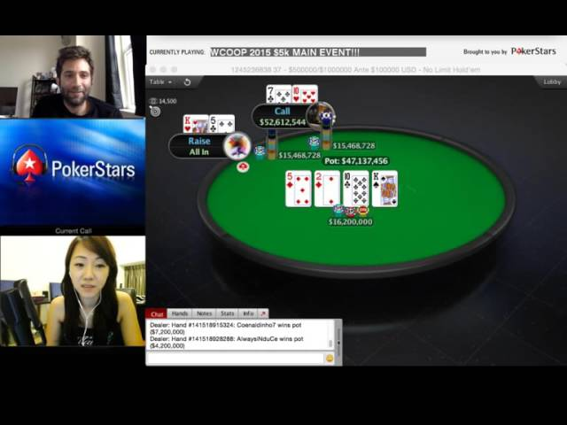 Final hand of the WCOOP 2015 Main Event!