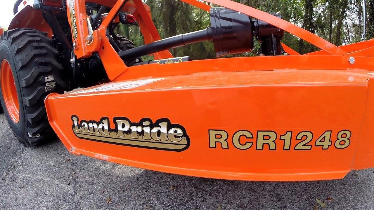 Land Pride RCR1248 Brush Cutter on Kubota B2601