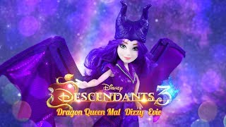 Unbox Daily: ALL NEW Disney Descendants 3 Dragon Queen Mal | Evie | Uma | | Dizzy