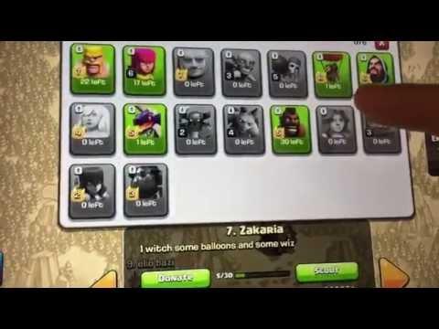 Clash Of Clan Glitch War Clan Castle (NEW)