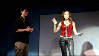 Magic Babe Ning performs for Toshiba 25Years Launch in Singapore