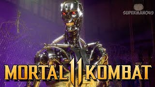 "I Can't Believe I Won With The Endoskeleton... - Mortal Kombat 11: ""Terminator"" Gameplay"