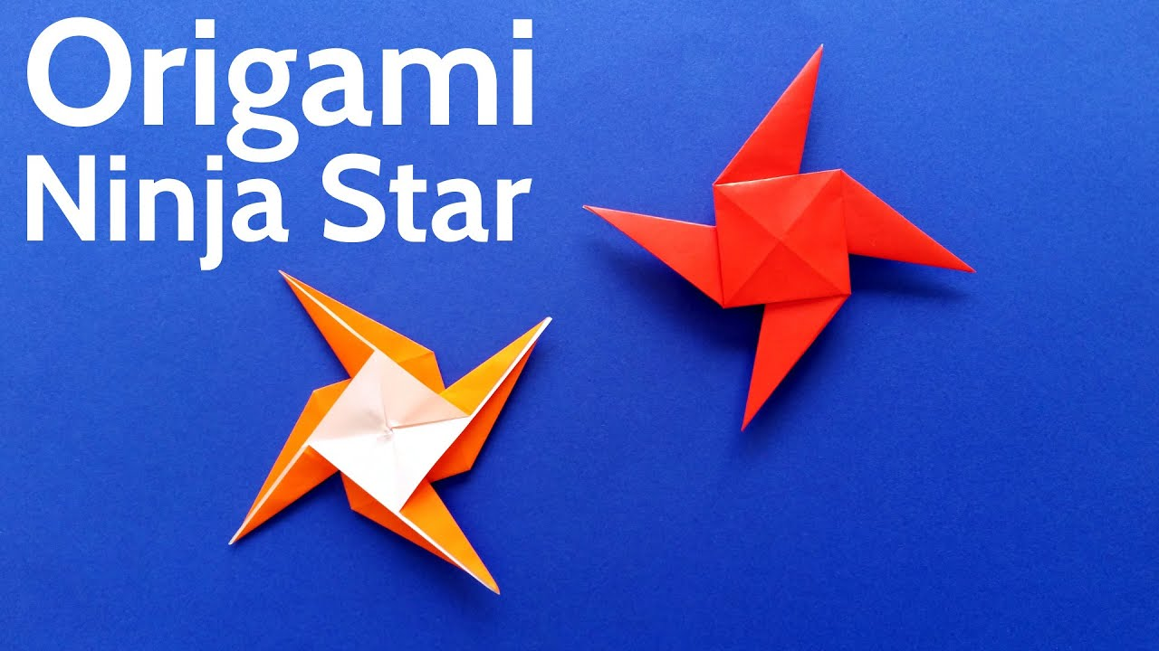 how to create a paper throwing star