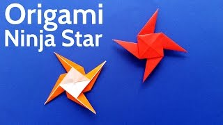 How to Make an Origami Ninja Star / Shuriken / Pinwheel / Windmill - Easy Tutorial