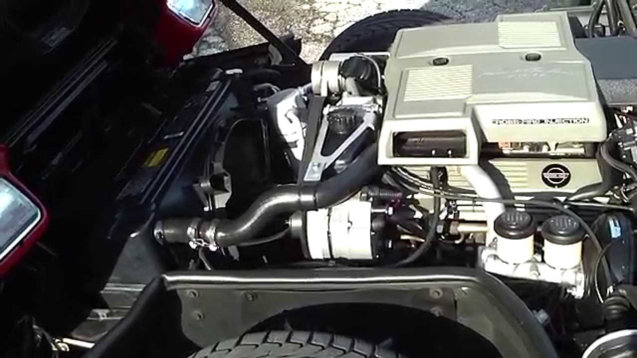 For A Chevy 350 Starter Motor Wiring Diagram L83 Crossfire Engine Running Corvette C4 1984 Youtube
