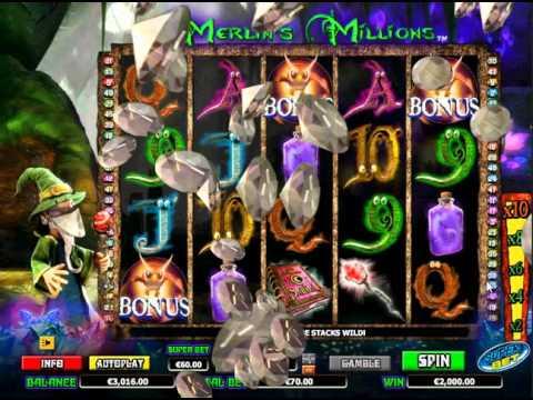 Merlin's Millions - CASINO SLOT MACHINE - ***M€GA Win***