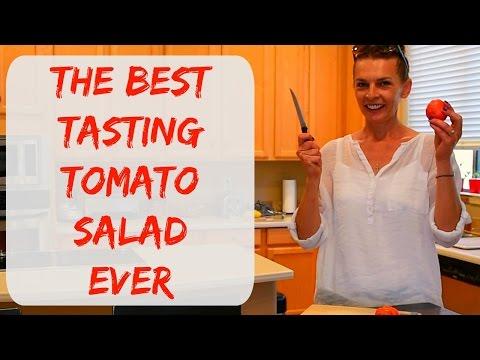 The Best Organic Heirloom Tomato & A Great Simple Tomato Salad - Arizona Vegetable Garden