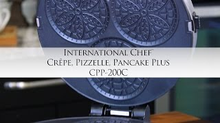 Cuisinart International Chef Crêpe, Pizzelle, Pancake Plus with Chef Jonathan Collins