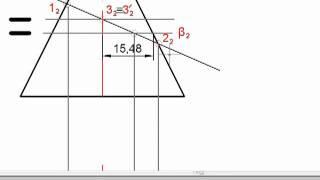[Начертательная геометрия] Пересечение прямой с поверхностью
