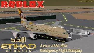 ROBLOX - Etihad Airways Airbus A380-800 Emergency Flight Roleplay