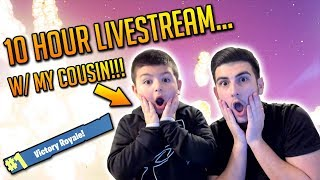 ATTEMPTING A 10 HR LIVESTREAM W/ MY LITTLE COUSIN!!! - (Fortnite & Other Games + New Skin Gameplay!)