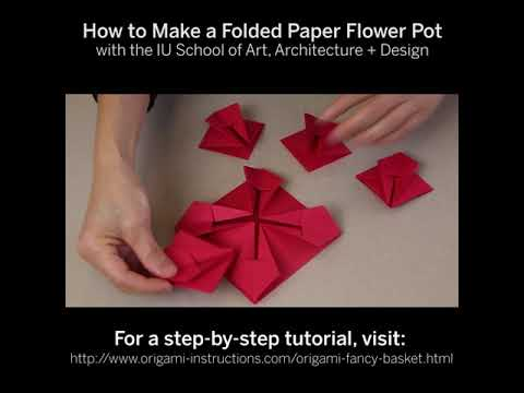 How To Make A Folder Paper Flower Pot Indiana University Soaad