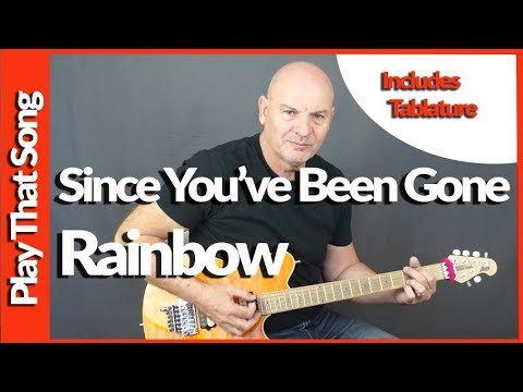 Since You've Been Gone - Rainbow - Guitar Tutorial
