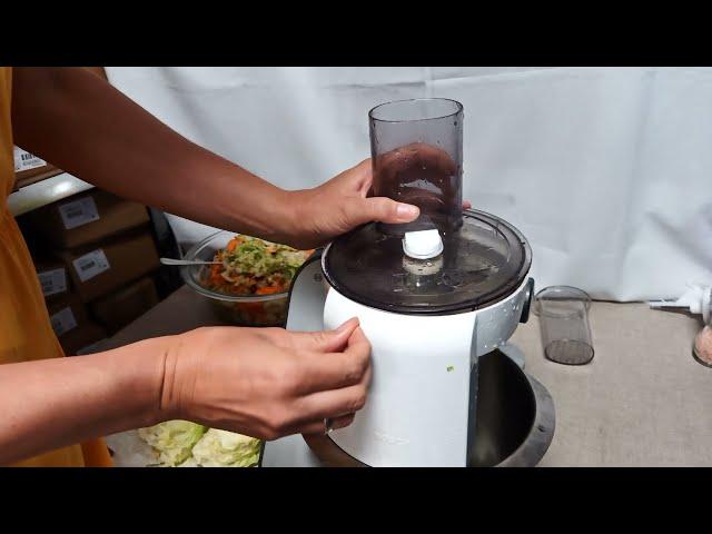 Bosch MUM5 robotgèp szeletelő koronggal saláta aprítás