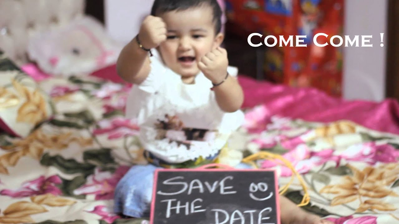 Babys St Birthday Invitation Reet Cinematic Video Tiny - 1st birthday invitation indian card