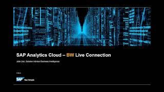 SAP تحليلات سحابة - BW اتصال مباشر