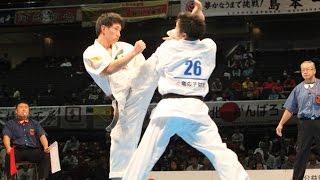 The 46th ALL JAPAN KARATE TOURNAMENT Men 2nd round Yuki Maeda vs Ta...