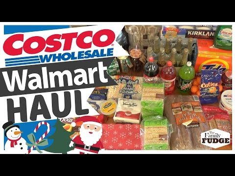 $300+ Christmas Grocery HAUL -- COSTCO + WALMART -- Menu Plan - 동영상