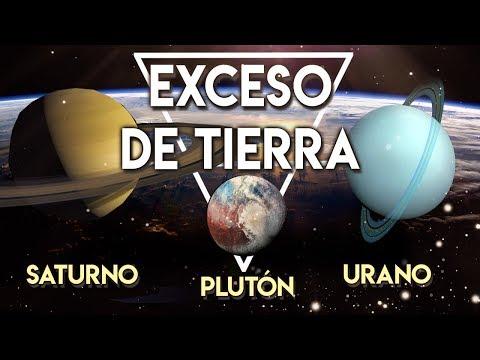 El Exceso de Tierra de Saturno, Plut�n y Urano