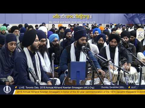 071 Toronto Dec. 2018 - Saturday PM - Raensabaayee Keertan - Bhai Pritpal Singh Jee Regina