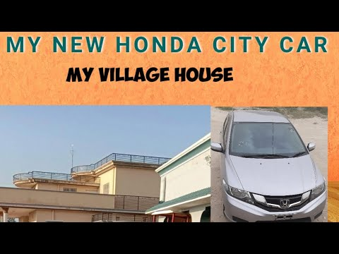 My new car honda city.and enjoy Sunday village home😍💃