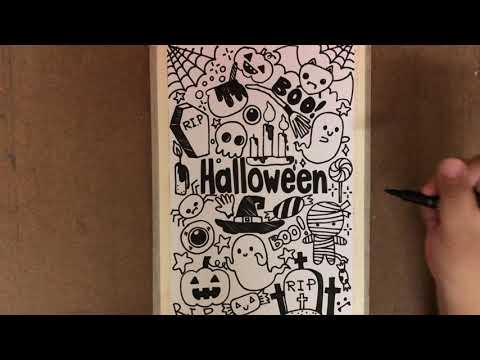 [Halloween Doodle] สอนวาดรูปวันฮาโลวีนง่ายๆ | สอนศิลปะออนไลน์ By บ้านศิลปะ_little_school