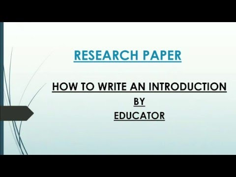 How to find articles for research paper
