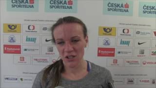 Simona Vrzalová po novém rekordu šampionátu na 3000 m