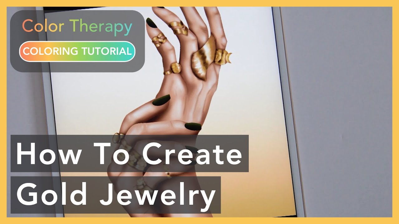 Coloring Tutorial: How to create Gold Jewelry