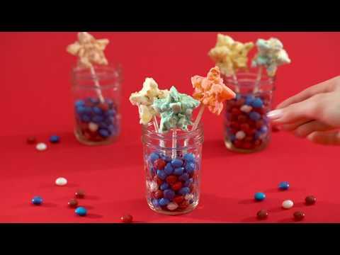 Skittles Red White and Blue Popcorn Stars