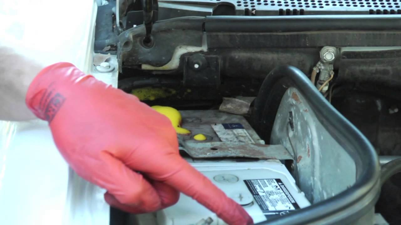 how to clean rusty battery terminals