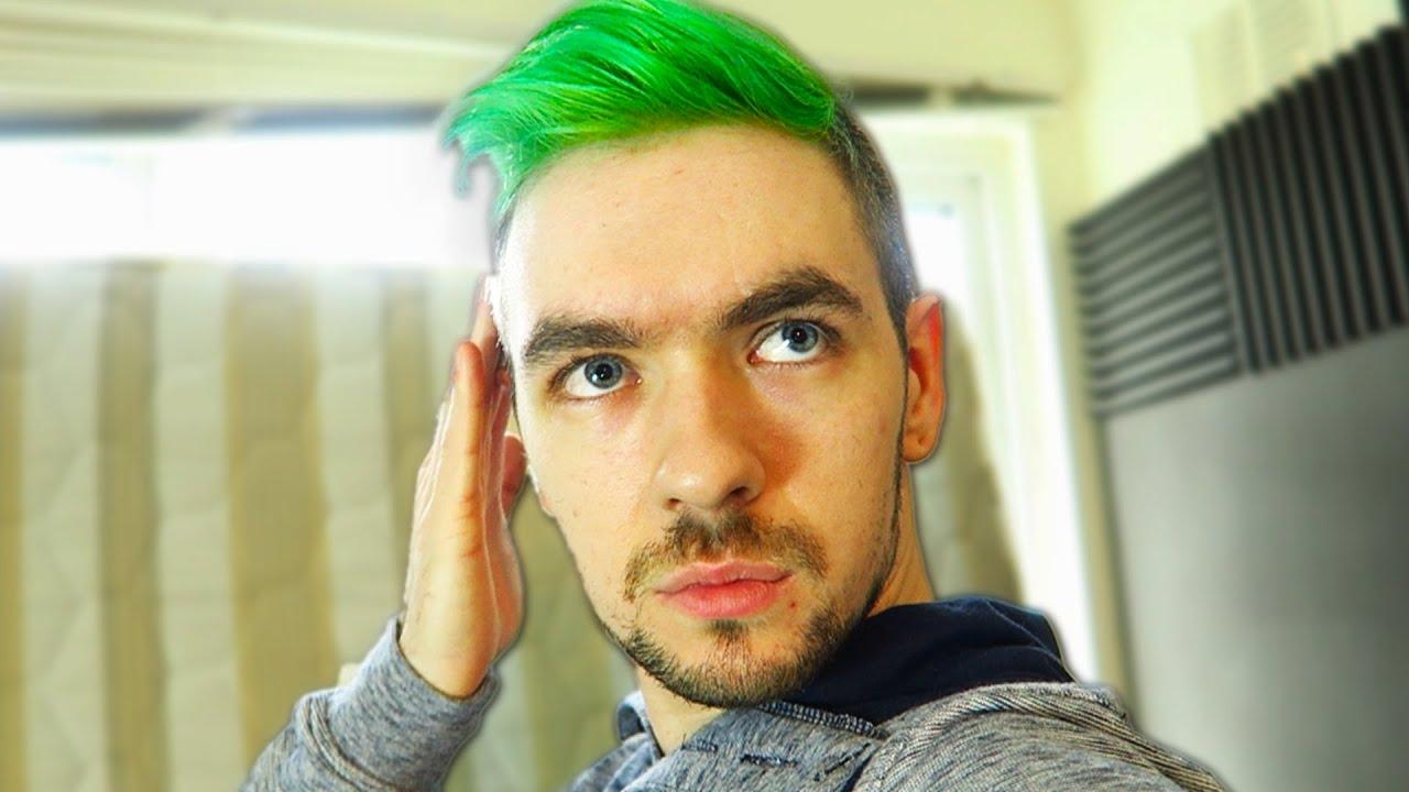 dyed hair green