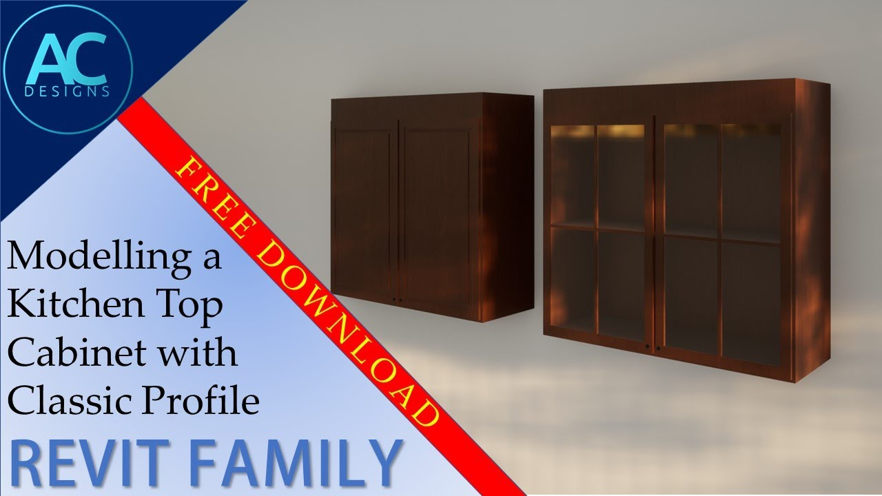 Modelling A Kitchen Top Cabinet With Classic Profile In Revit Revit Tutorial Tips And Tricks Youtube