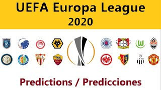 UEFA Europa League 2020 - final predictions / predicción final