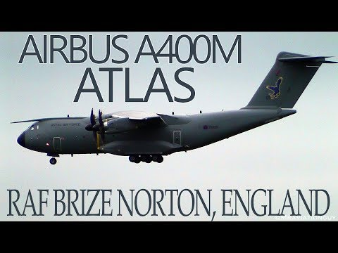 Airbus A400M Atlas Touch & Go, Landing & Takeoff Action |  Royal Air Force Brize Norton!