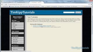 PHP Programming Tutorial - Dynamic FAQ Section - Part 1